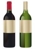 Deux bouteilles de vin illustration de vecteur