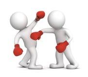 Deux boxeurs pendant l'allumette de boxe Photographie stock libre de droits