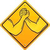 Deux bras dans armwrestling illustration stock