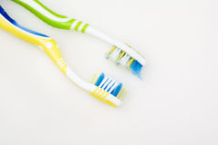 Deux brosses à dents Image libre de droits