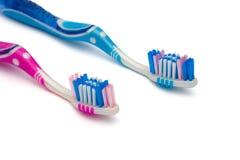 Deux brosses à dents Photo stock