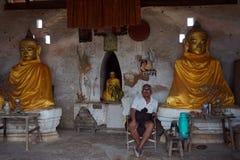 Deux Buddhas Photographie stock