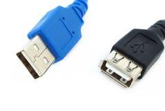 Deux câbles d'USB Photo libre de droits