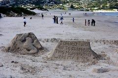 Deux cadeaux de Dieu, baie de Hout, Afrique du Sud image stock