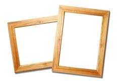 Deux cadres de tableau en bois Image libre de droits