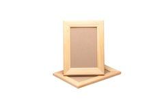 Deux cadres de tableau en bois Photos stock