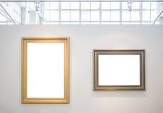 Deux cadres de tableau vides Image libre de droits
