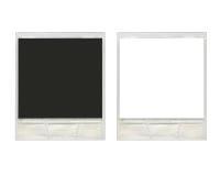 Deux cadres polaroïd instantanés de photo de vintage Image libre de droits