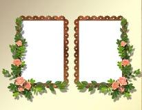 Deux cadres pour la photo illustration stock