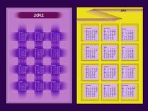 Deux calendriers pendant l'année 2012 Photo stock