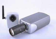 Deux caméras vidéo d'IP Images stock