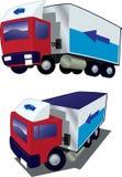 Deux camions de différents angles Images libres de droits