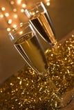 Deux cannelures de champagne. Image stock