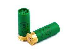 Deux cartouches de chasse pour le fusil de chasse Image stock