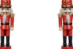 Deux casse-noix en bois avec l'espace de copie images stock
