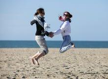 Deux cavaliers heureux Photo libre de droits