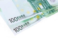 Deux cents euro billets de banque d'isolement Image libre de droits