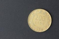 Deux cents Lires d'italien Image stock