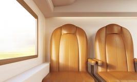 Deux chaises brunes dans l'avion illustration stock