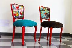 Deux chaises de vintage photographie stock libre de droits