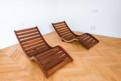 Deux chaises longues Images libres de droits
