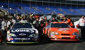 Deux champions de NASCAR Photos libres de droits