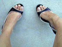 Deux chaussures Images libres de droits