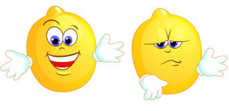 Deux citrons Photos libres de droits