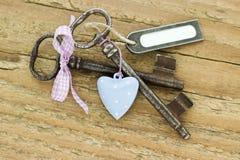 Deux clés Photos stock