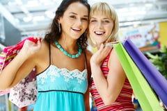 Deux clients amicaux Image libre de droits