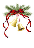 Deux cloches de Noël Image libre de droits