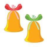 Deux cloches de Noël Photographie stock libre de droits