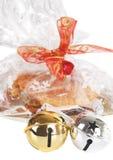 Deux cloches et biscuits de Noël Photo libre de droits