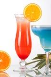 Deux cocktails tropicaux Images libres de droits