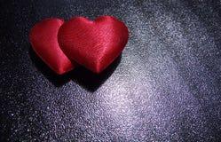 Deux coeurs Photo libre de droits