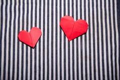Deux coeurs Photos stock