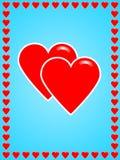 Deux coeurs illustration libre de droits