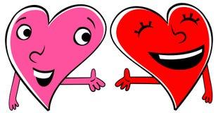 Deux coeurs affectueux Illustration Libre de Droits