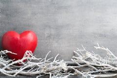 Deux coeurs Cartes de voeux de Valentine Day Image stock