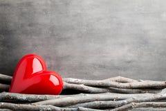 Deux coeurs Cartes de voeux de Valentine Day Images libres de droits