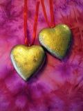 Deux coeurs d'or images libres de droits