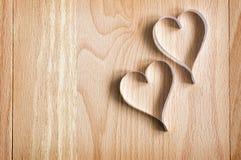 Deux coeurs de papier Image stock