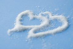 Deux coeurs de sucre Photographie stock libre de droits