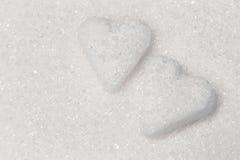 Deux coeurs doux de sucre Images stock