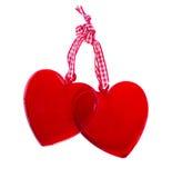 Deux coeurs en verre Image libre de droits