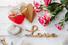 Deux coeurs et amours de message Images libres de droits