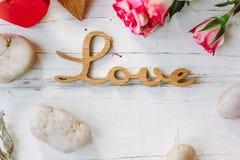 Deux coeurs et amours de message Photos stock