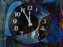 Deux coeurs forme et horloge Photo stock