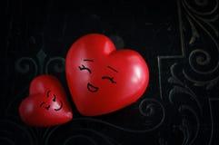 Deux coeurs heureux Photo stock