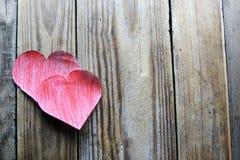Deux coeurs Image de jour de valentines Images libres de droits